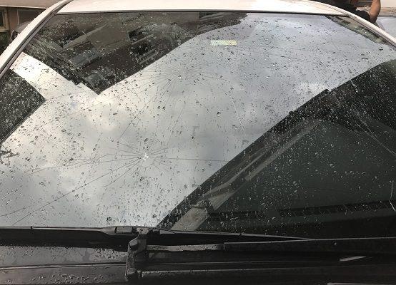 Doludan zarar gören araçlar için itfaiye tutanak tutuyor