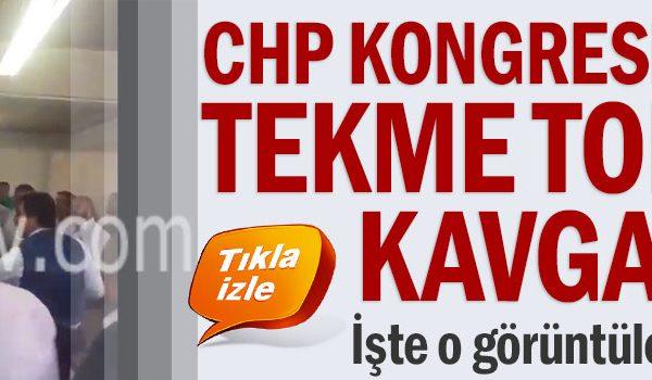 İstanbul Ataşehir'de CHP'nin mahalle delege seçiminde tekme tokat kavga
